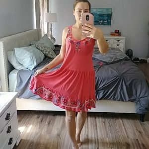 Johnny Was coral dress